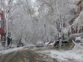 Снежный апокалипсис в апреле: проблемы с транспортом, отменены авиарейсы